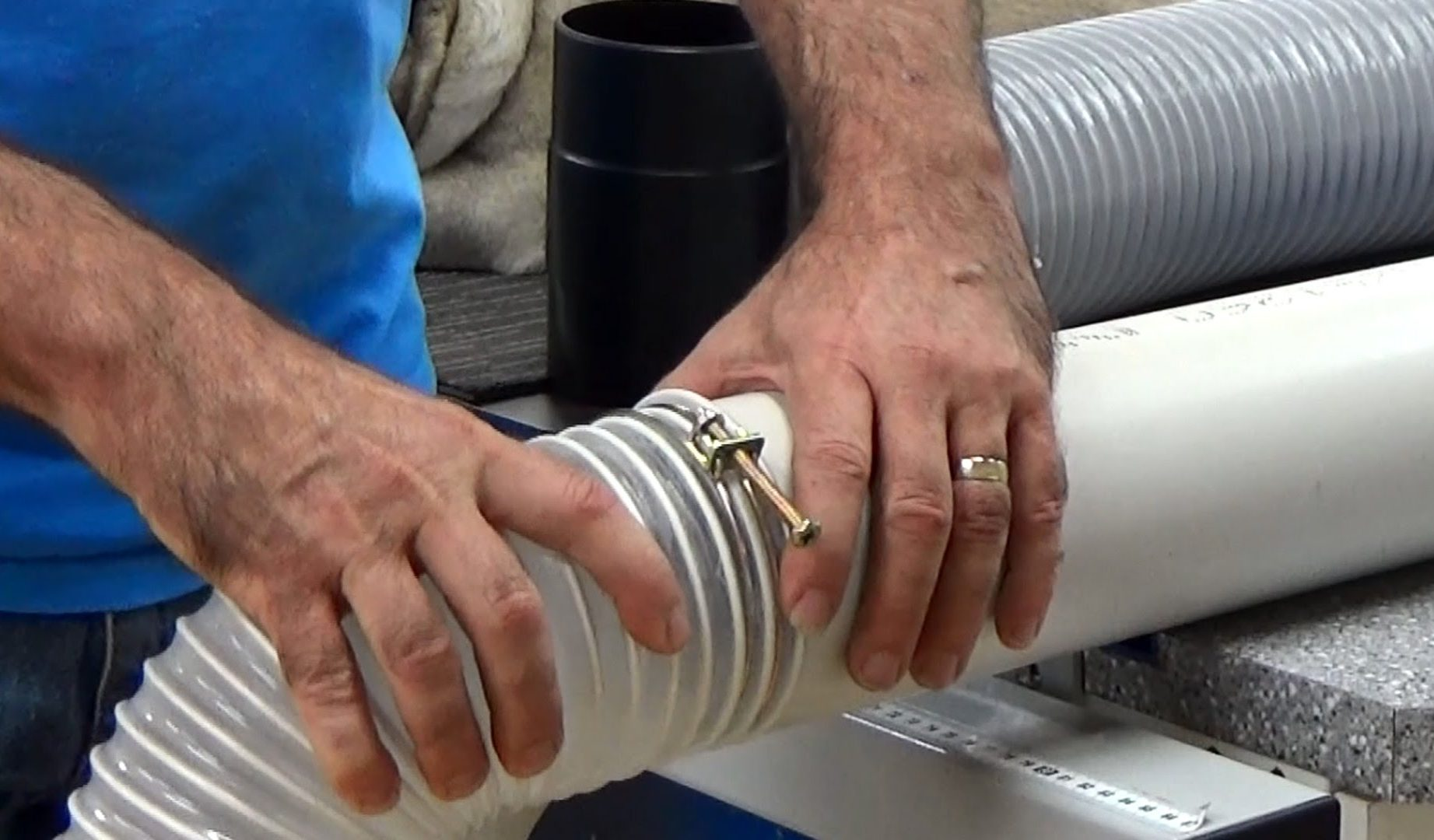 connect PVC pipe