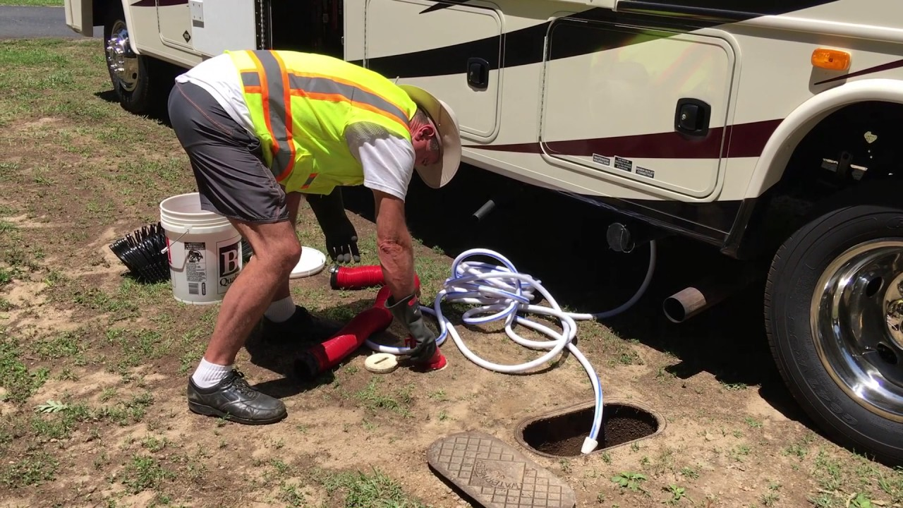 motorhome sewer hook up