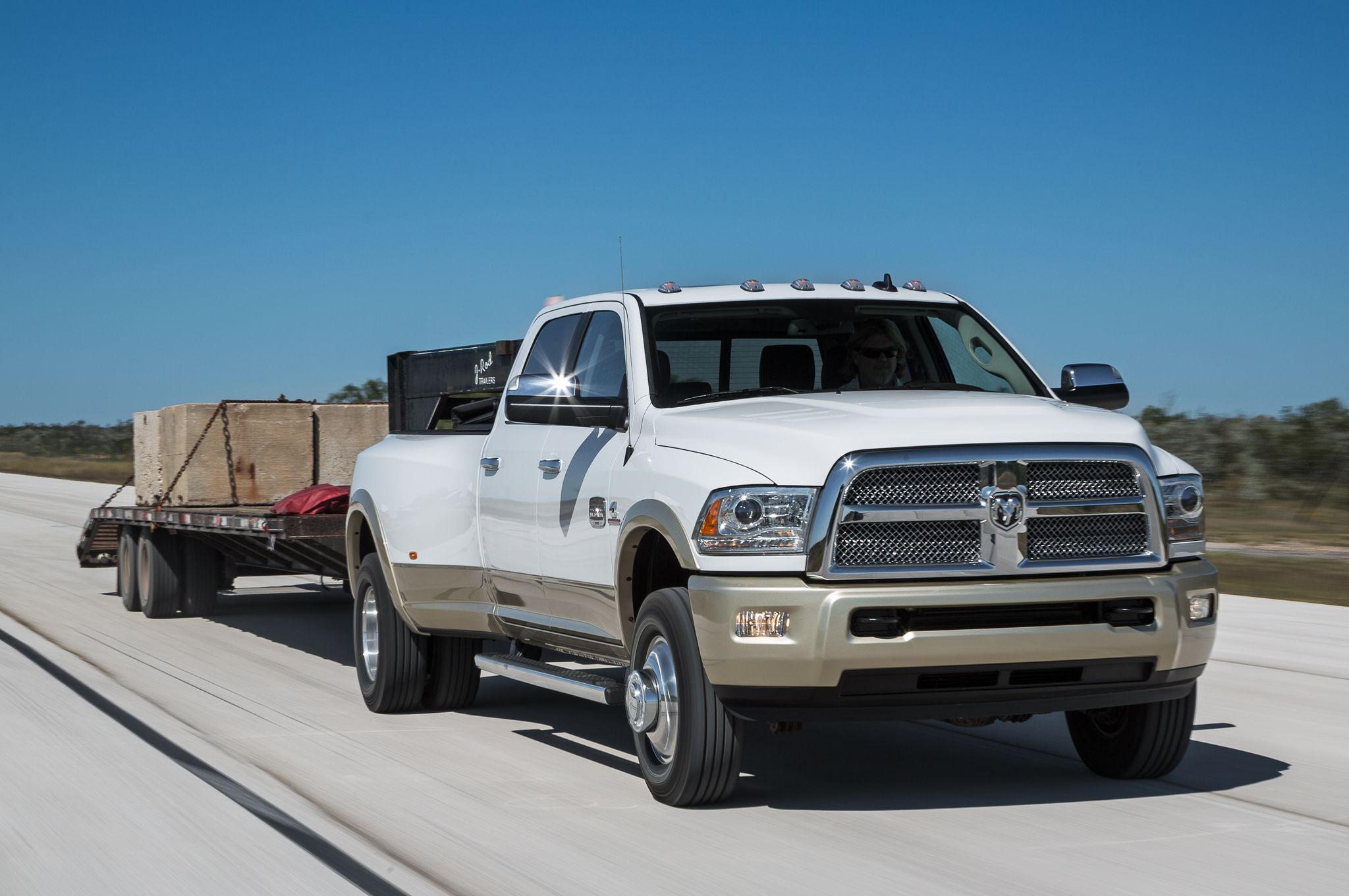 2014 Ram 3500 Laramie Longhorn Front view towing