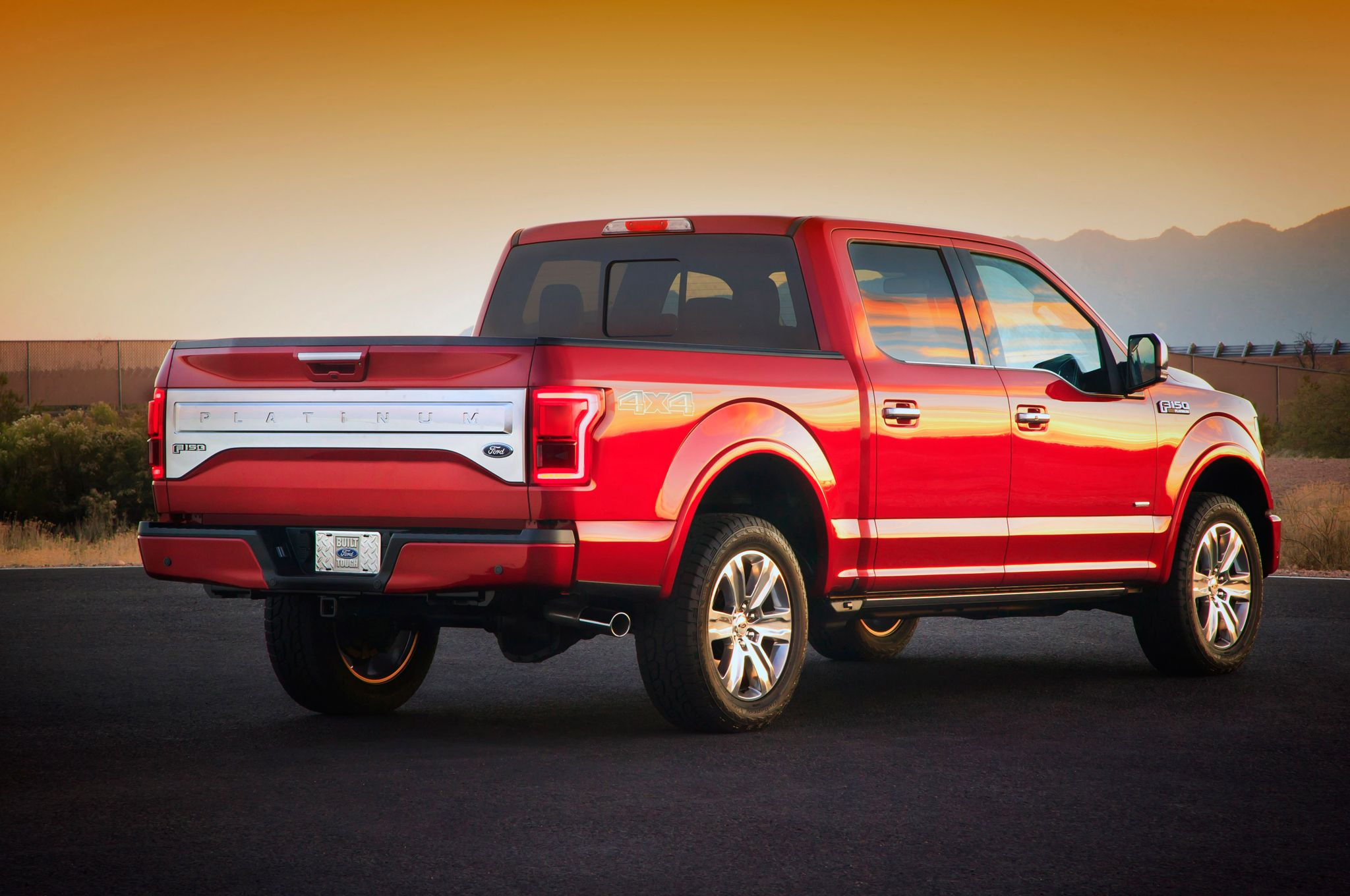 2015 Ford F-150 platinum rear