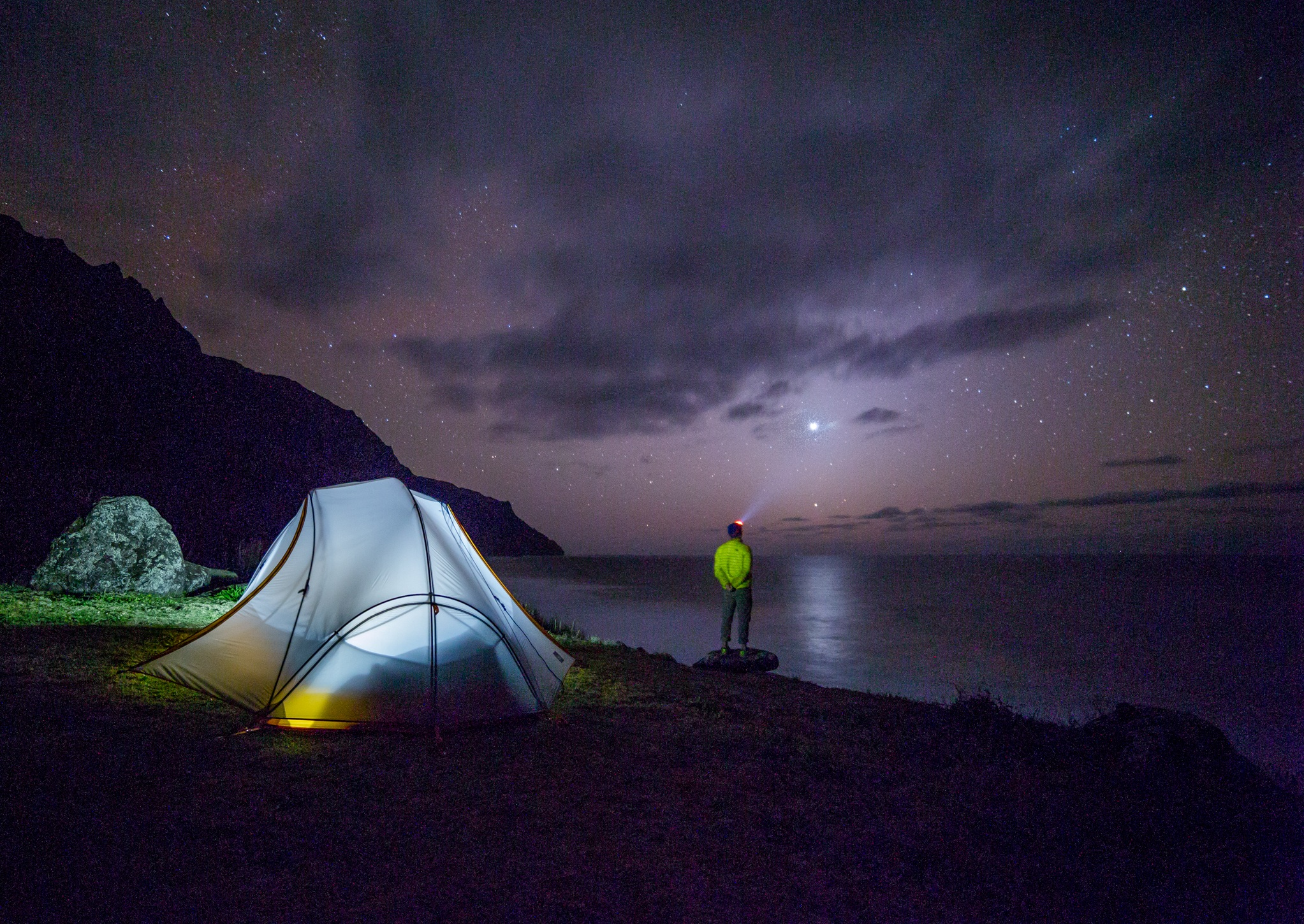 camping site at night