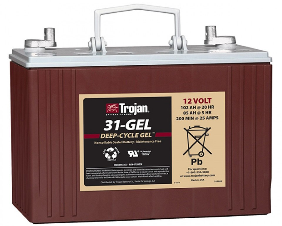 RV deep cycle gel sealed battery
