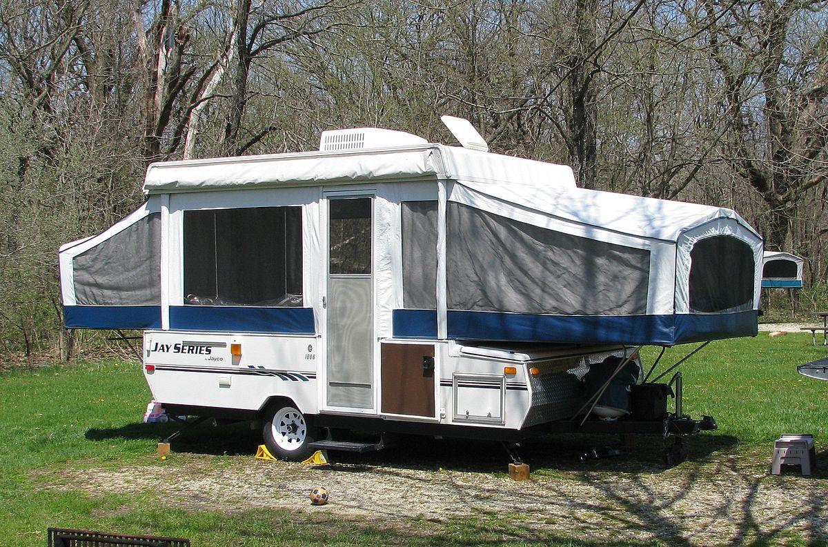 Live in a pop-up camper