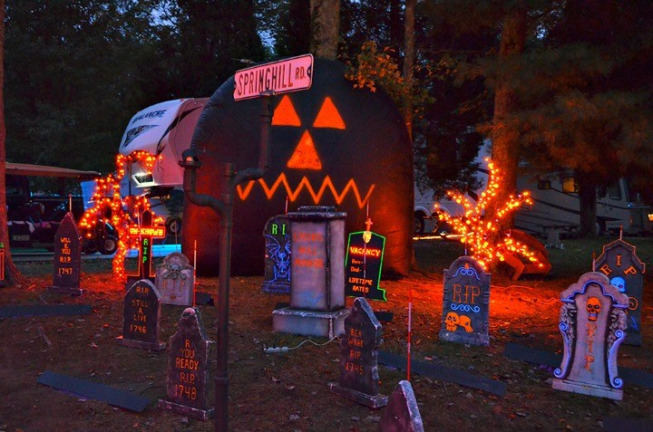 Decorations for halloween camping