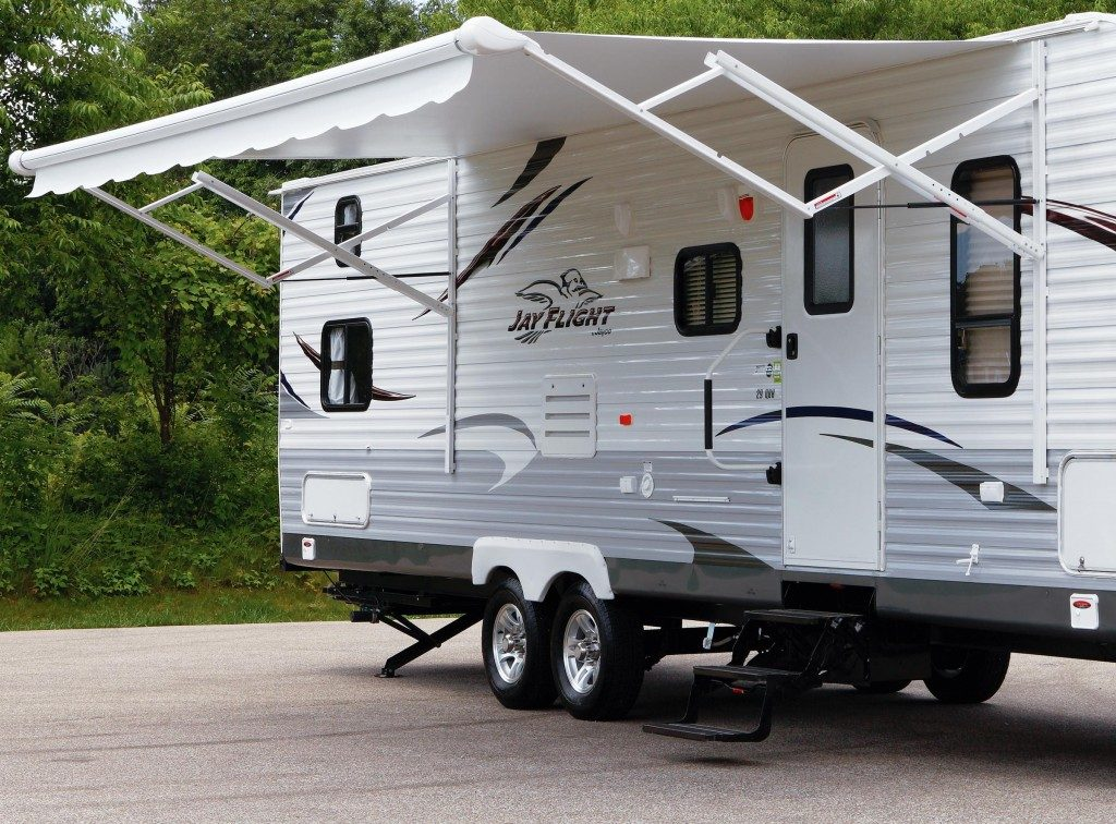 converting electric rv awning