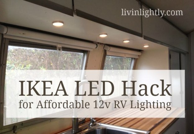 rv hack ikea led lights