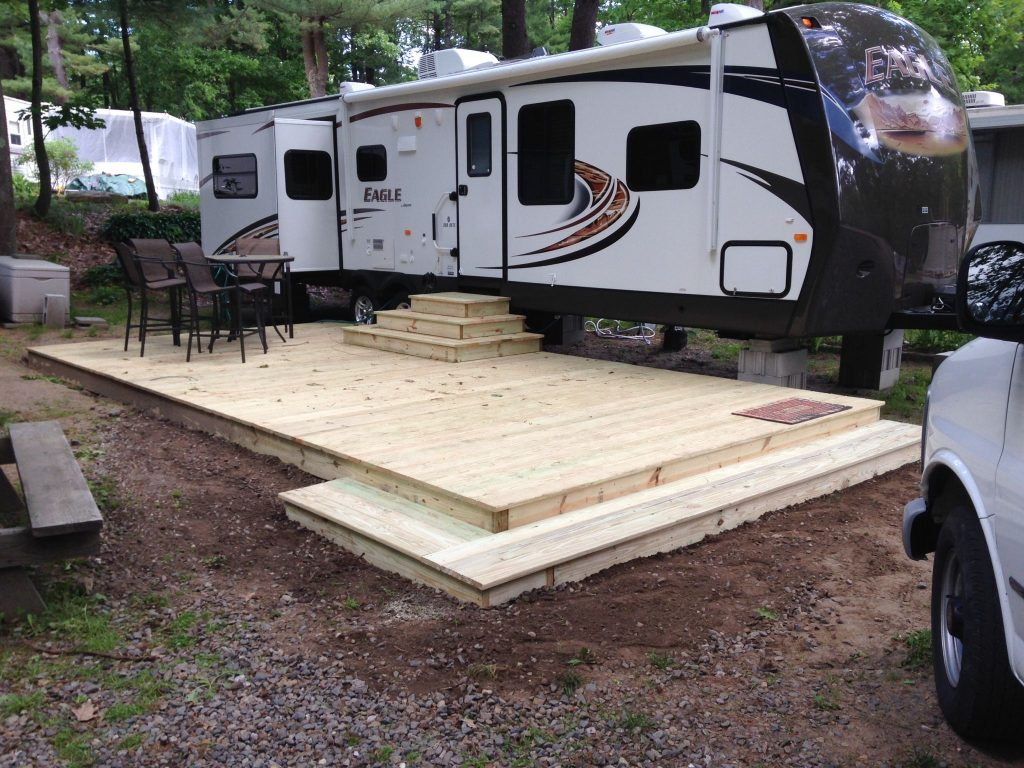 portable decking for rv