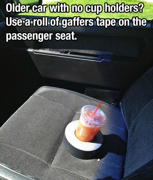 hacks for roadtrip cup holder