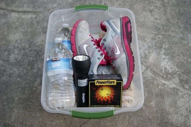 hacks for roadtrip emergency box