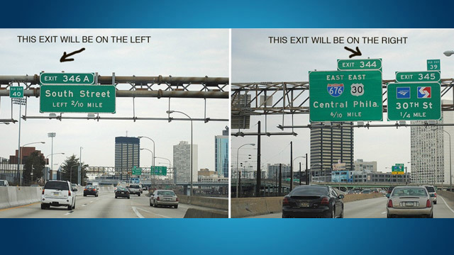 hacks for roadtrip exit signs
