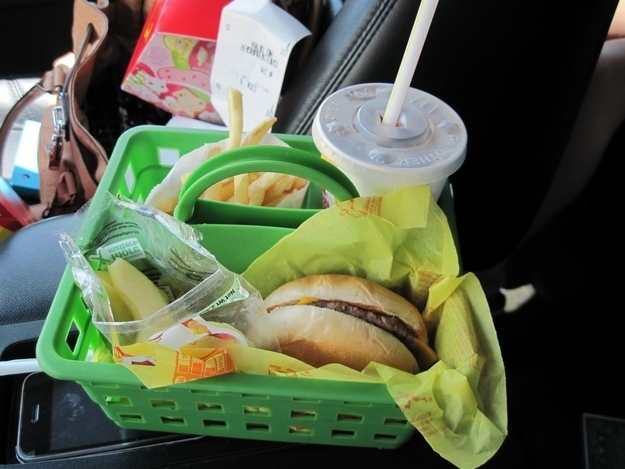 hacks for roadtrip food holder