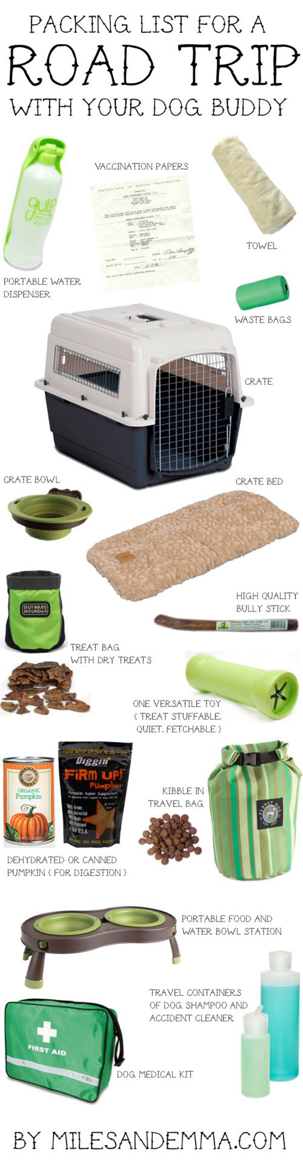 road trip hacks dog essentials