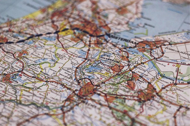 road trip hacks embrodiered map