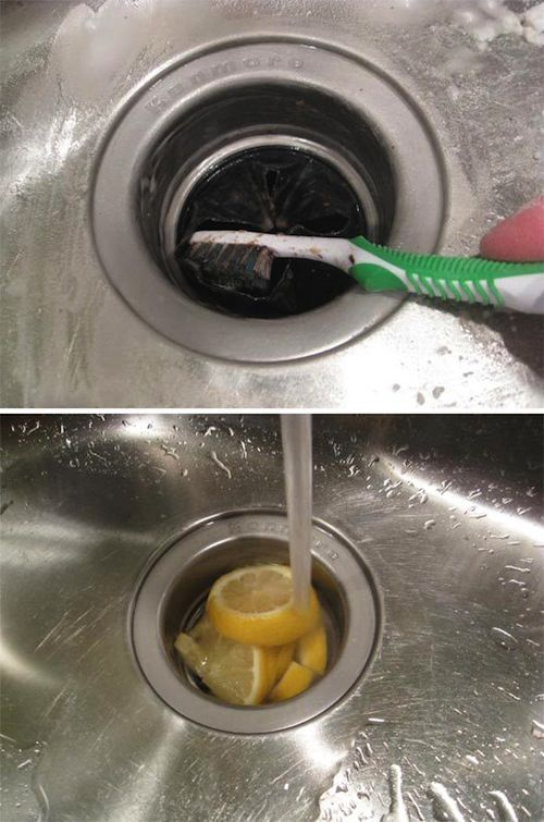 cleaning hacks kitchen sink