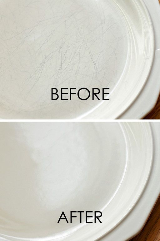 cleaning hacks scratched ceramic