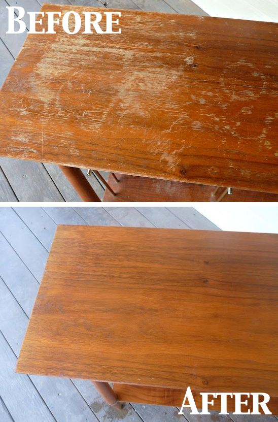 cleaning hacks wood scratches