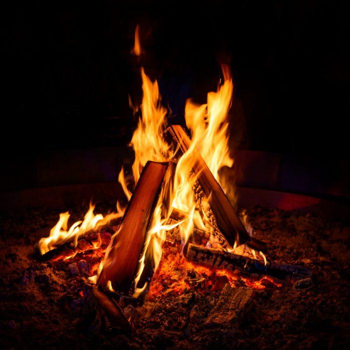 feeding campfire
