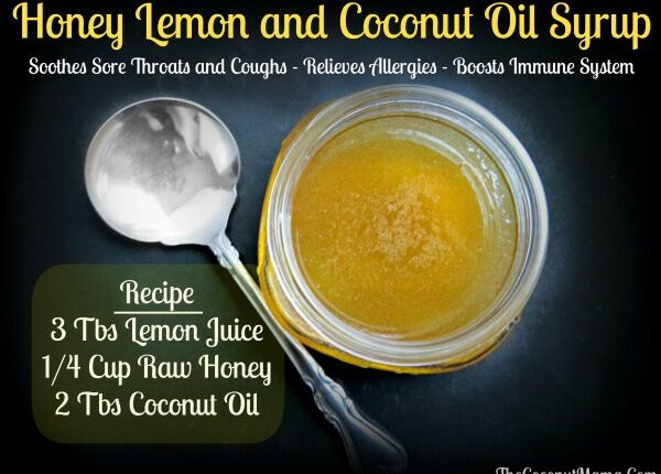 honey lemon coconut oil syrup