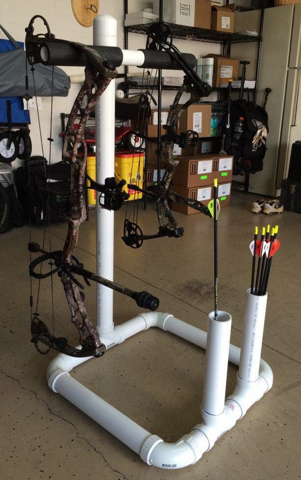 pvc hacks bow stand