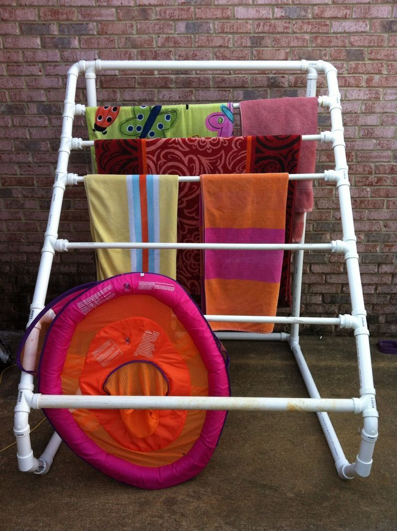 pvc hacks pvc drying rack