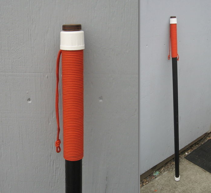 pvc hacks pvc hiking staff