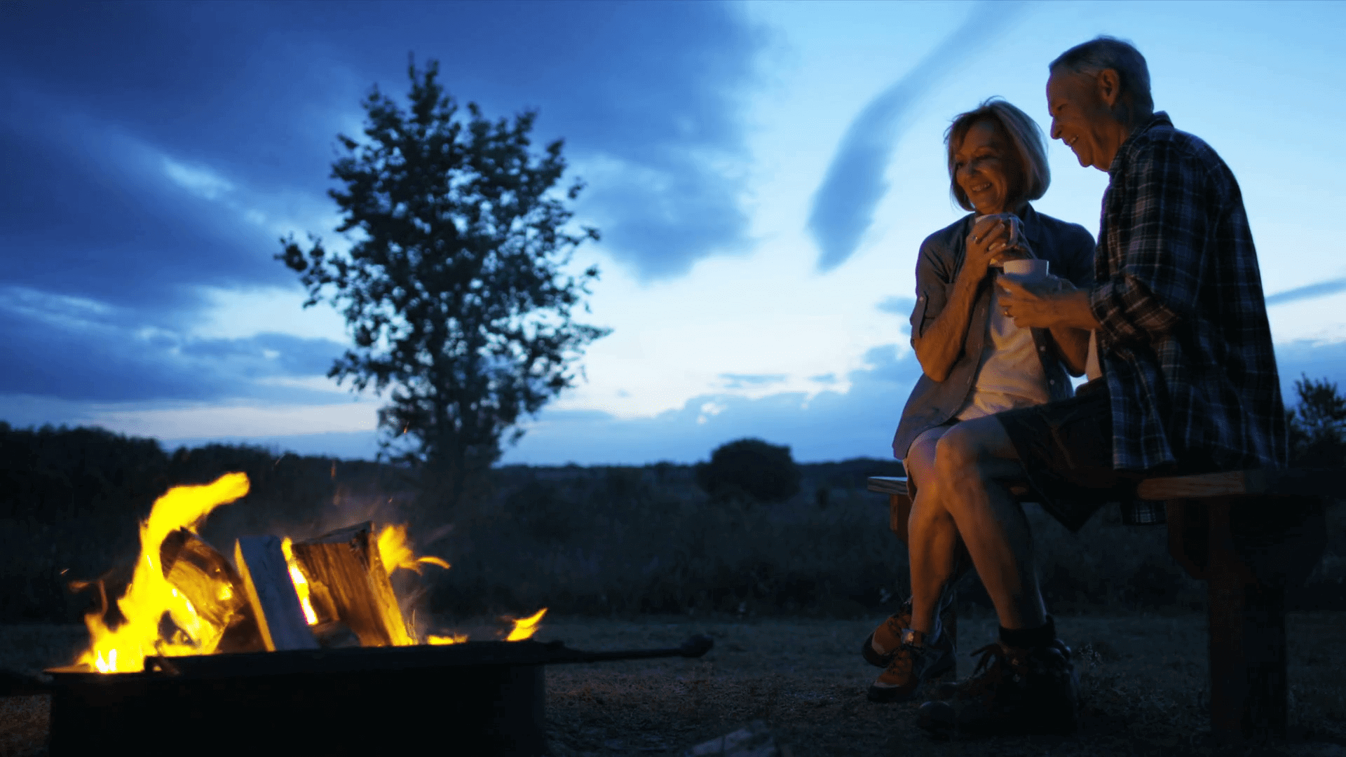 drink by campfire