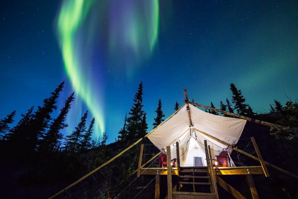canvas tents alaska wilderness